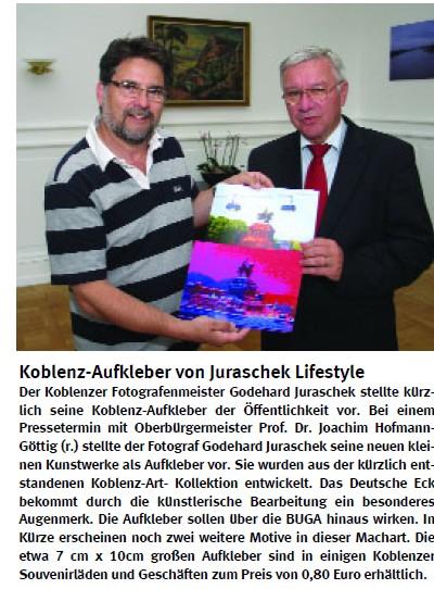Fotografen Koblenz neue koblenz aufkleber vom fotografen juraschek an ob hofmann göttig