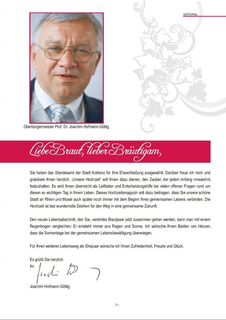 Grußwort OB Hofmann-Göttig: Informations-broschüre Unsere