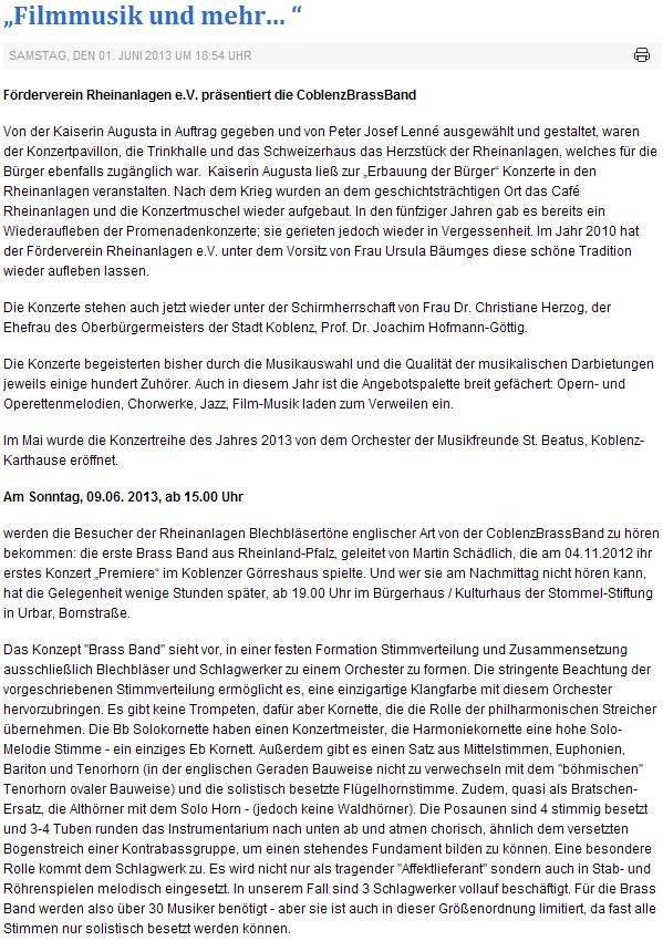 Ausgezeichnet Konzert Pressemitteilung Vorlage Fotos ...