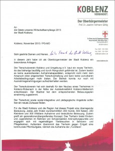 Brief wirtschaftsempfang 13.12.2013 -1