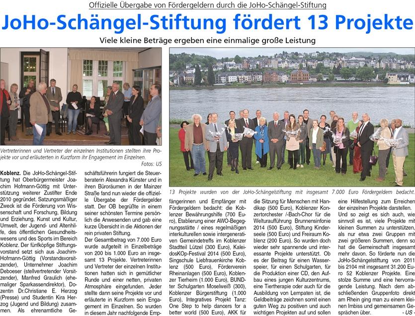 ba 17.5.2014, S. 22 JohoschängelstiftungEPaperImage
