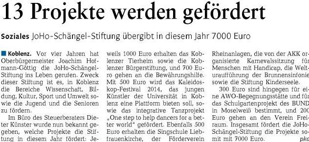 rz 10.5.2014, S. 15 Joho schängel-stiftung60b2f939b35d7904