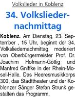ba 20.9.2014, S. 36 Volksliedernachmittag