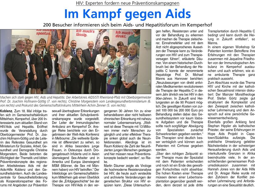 ba 27.9.2014, S. 16 Aids-Forum