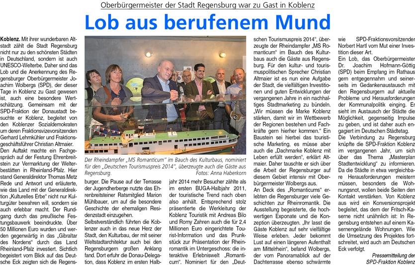ba 27.9.2014, S. 6 Regensburg OB