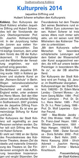 ba 18.10.2014, S. 10 Kulturpreis