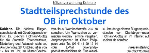 ba 18.10.2014, S. 32 Sprechstunde