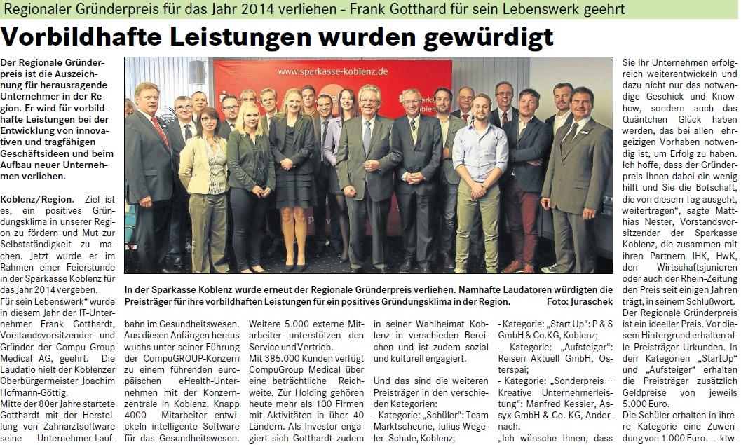suso 19-10-20ß14. S. 2 Gründerpreis