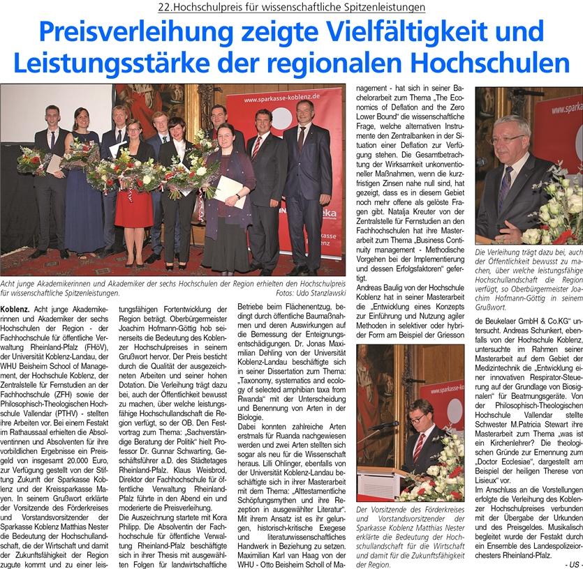 ba 22.11.2014, S. 19 hochschulpreis