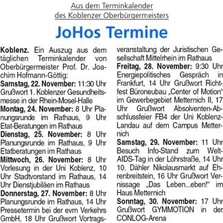 ba 22.11.2014, S. 31 Termine