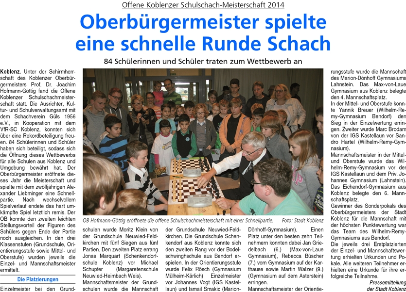 ba 22.11.2014, S. 44 Schulschach