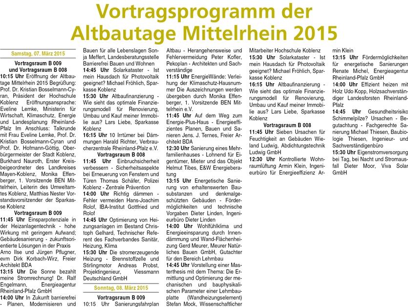 ba 26.2.2015, S. 19 Altbautage