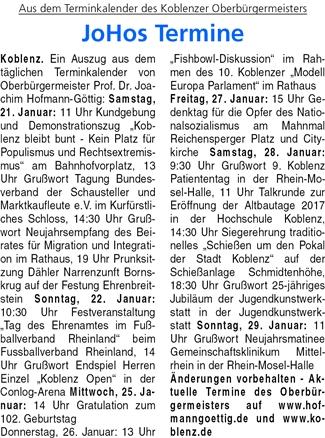 ba 19.1.2017, S. 31 Termine